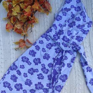 Eva Mendes Blue Poppy Dress